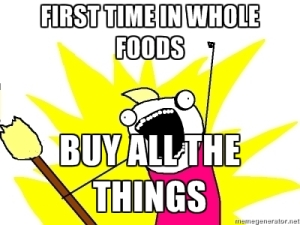 first time in whole foods