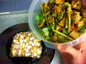 Rest days call for big salads!