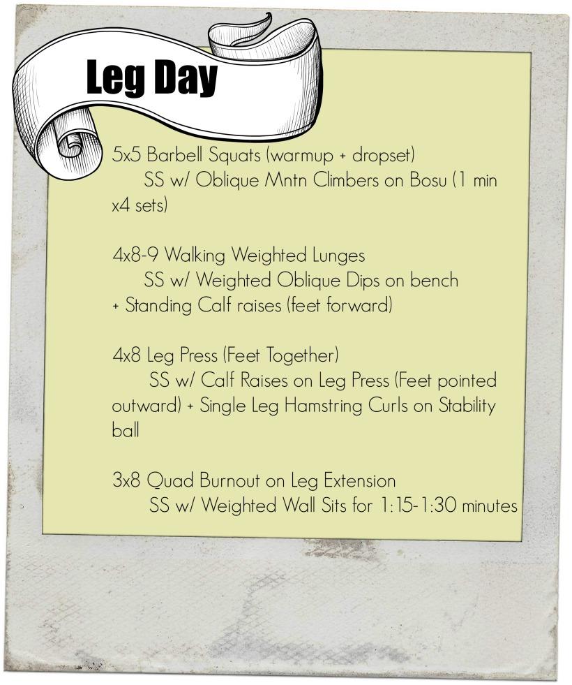leg day workout Untitled