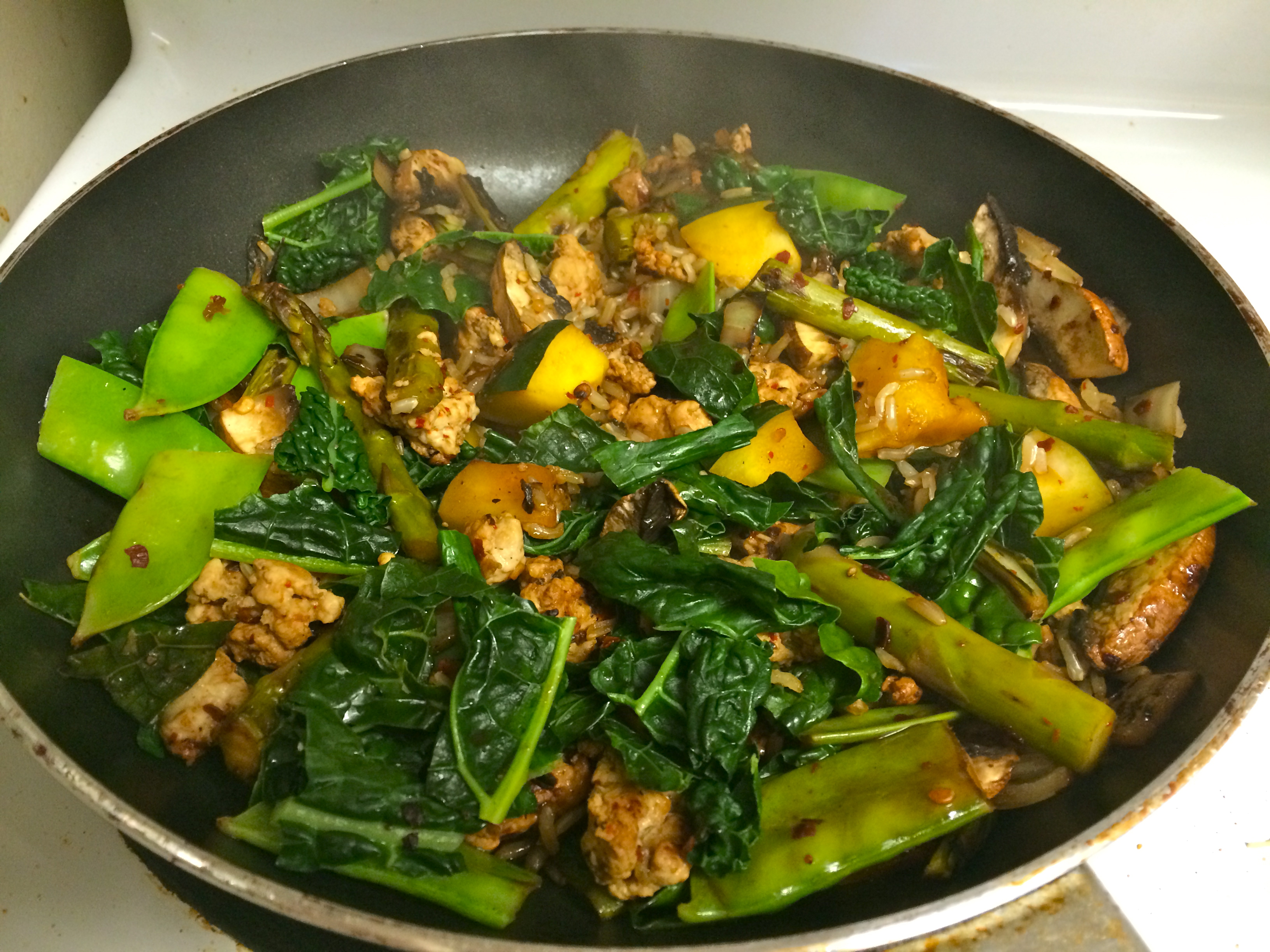and kale fried wild rice recipe key ingredient kale and shiitake fried ...
