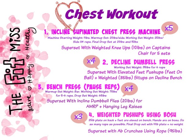 Chest Workout Mar 24